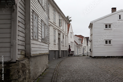 Staande foto Scandinavië Домики в Ставангере. Норвегия.