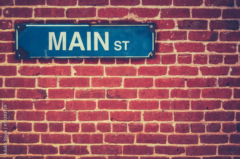 Fototapety, obrazy: Retro Main Street Sign