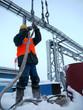 RUSSIA, NADYM - November 23, 2012: Сorporation GAZPROM in Novy
