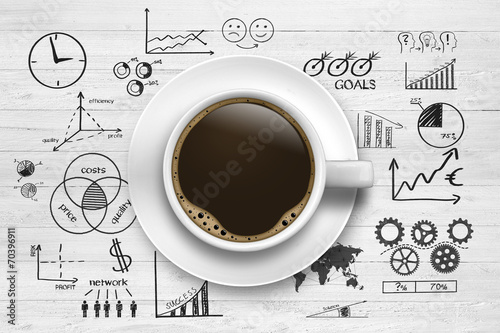Fotografie, Obraz  Coffee break / Business Symbols