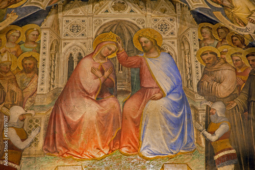 Padua - Coronation of Virgin Mary in Basilica of Saint Anthony