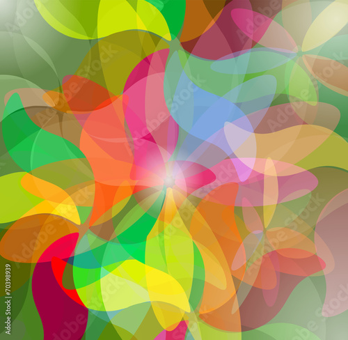 Photo  Colorful Abstract Psychedelic Art Background. Vector Illustratio