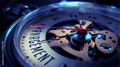 Management on Pocket Watch Face.