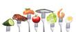 Leinwandbild Motiv Gesunde fettarme Ernährung
