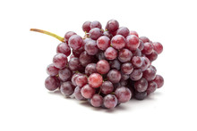 Fresh Grapes Isolated On White