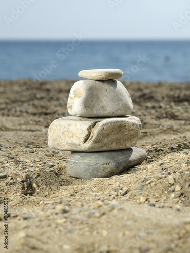 Photo sur Plexiglas Zen pierres a sable stones