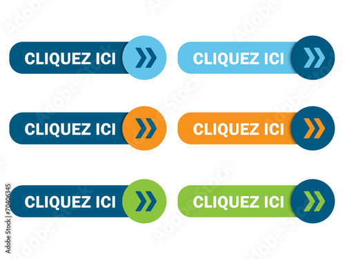 "BOUTONS ""CLIQUER ICI"" (cliquez ici confirmer continuer valider) Poster"
