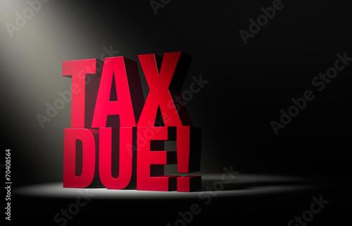 Obraz na płótnie Tax Due Warning