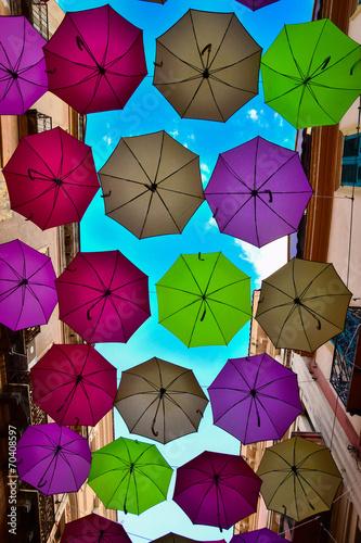 Fotografie, Obraz  Festa degli ombrelli