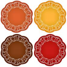Thanksgiving Place Mats, Harvest Doilies, Ornate Lace Patterns