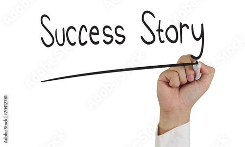 Success Story Canvas Print