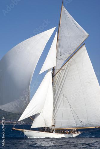 Spoed Foto op Canvas Zeilen Sailboat