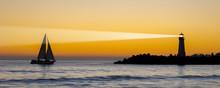 Lighthouse At Ocean