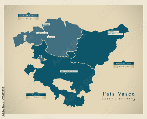 Modern map - País Vasco ES