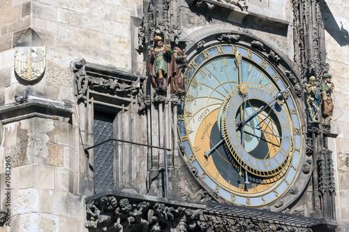 Photo Stands Prague Astronomical clock, Prague.