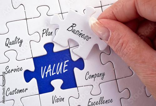 Fototapeta Value - Business Concept obraz