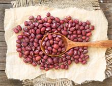 Azuki Beans And Spoon