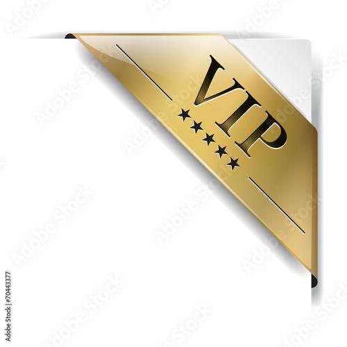 Fotografía  goldene banderole Vip auf weiß
