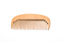 Wooden Comb On A White Backgro...