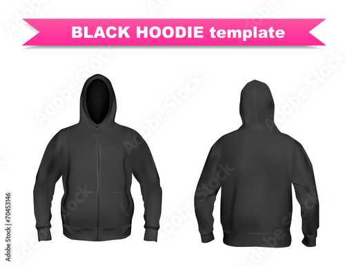 black hoodie template buy this stock vector and explore similar