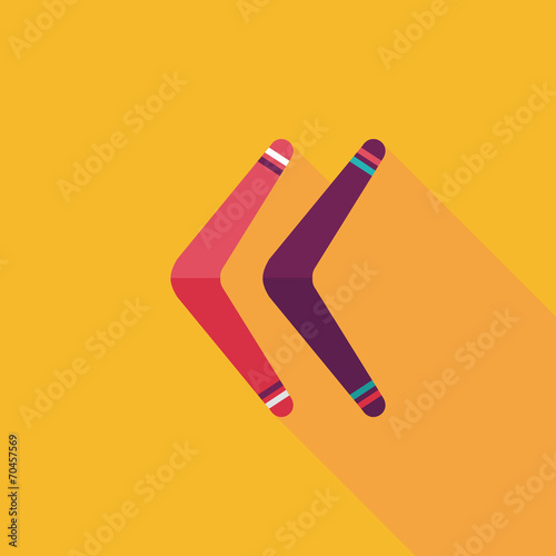 boomerang flat icon with long shadow Wallpaper Mural
