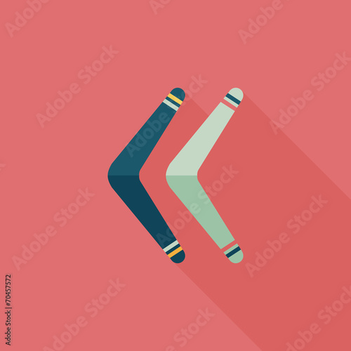 boomerang flat icon with long shadow Poster