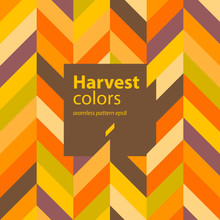 Autumn Colors Abstract Background (incl. Seamless Pattern)