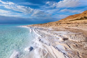 Fototapeta na wymiar View of Dead sea coastline