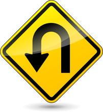 Vector U-turn Sign