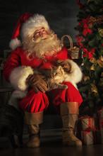 Santa Claus Sitting Near Chris...