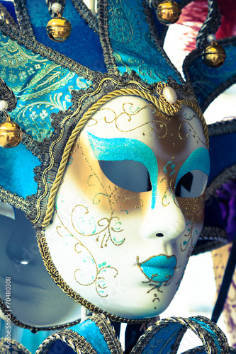 Souvenirs and carnival masks on street trading in Venice, Italy #70480308