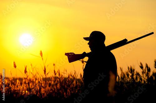 Fotobehang Jacht hunter