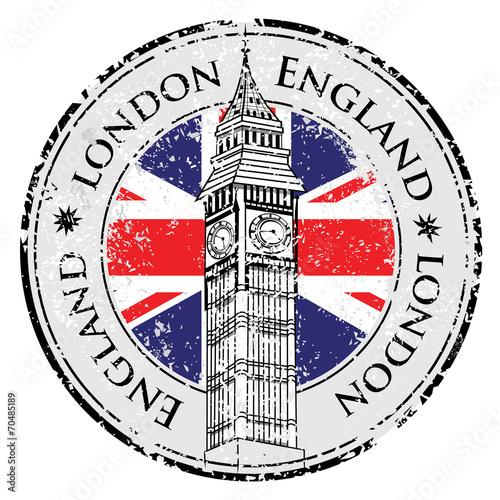 grunge-pieczatka-londyn-wielka-brytania