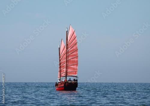 Canvas Print jonque,joncque,bateau,voile,voilier