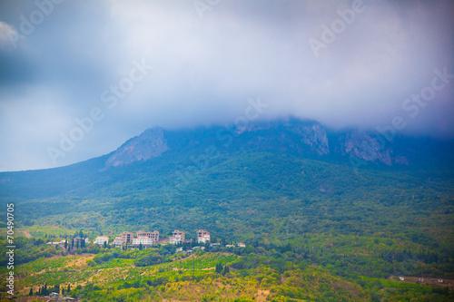Fototapeta The Crimean landscape. Mountains in the mist obraz na płótnie
