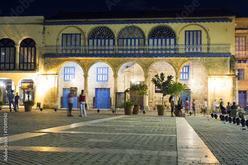 Photo Plaza Vieja, Havana at night