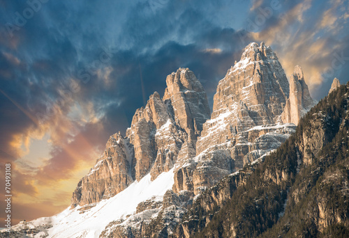 Fotografie, Tablou  Dolomites, Italy. Terrific view of Alps Mountains with colourful