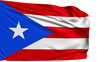 flag of Puerto Rico with fabric structure; looping