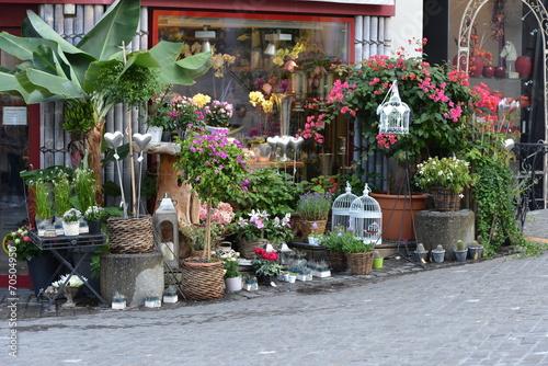 devanture d'un magasin de fleurs