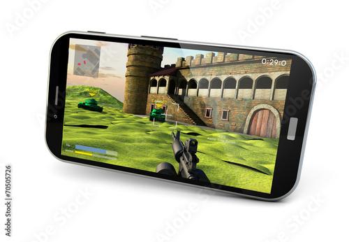 gaming smartphone Canvas Print