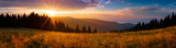 Fototapeta Na ścianę - Panoramic view of the sunrise in the Tatra mountains