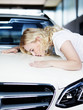 Woman loves and cherishes her car