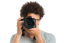 Man Taking Photo With Camera