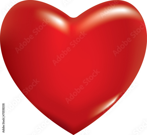 Photo 3d red heart