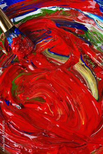 piatto di colore fresco Canvas Print