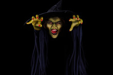 Scary Green Witch