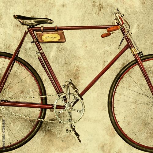 retro-stylizowany-wizerunek-starego-roweru-wyscigowego