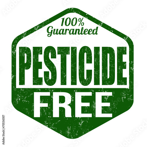 Fotografía  Pesticide free stamp