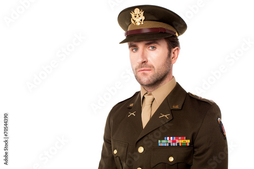 Fotografija Young american soldier in uniform