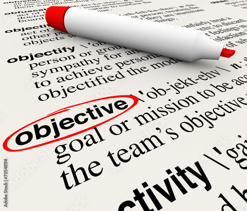 Objective Mission Goal Dictionary Word Definition Circled